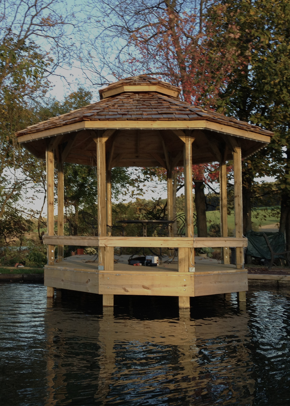 Gazebo on our pond
